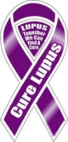 Cure Lupus Awareness 2 in 1 Ribbon Magnet