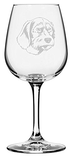 Pudelpointer Dog Themed Etched 12.75oz Libbey Wine Glass