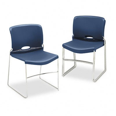 Olson Series Stacker Chairs (Set of 4) Seat Finish: Navy by HON