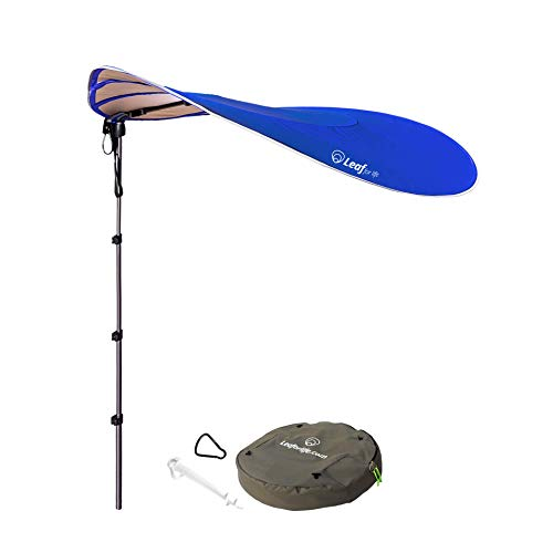 Leaf for Life  The Smart Sunshade  Large Portable Sun Shade Windproof Beach Umbrella with Sand Anchor Perfect for Camping, Beach Sunshade&Fishing  UPF50 UV Protection 360° Telescoping Aluminum Poles