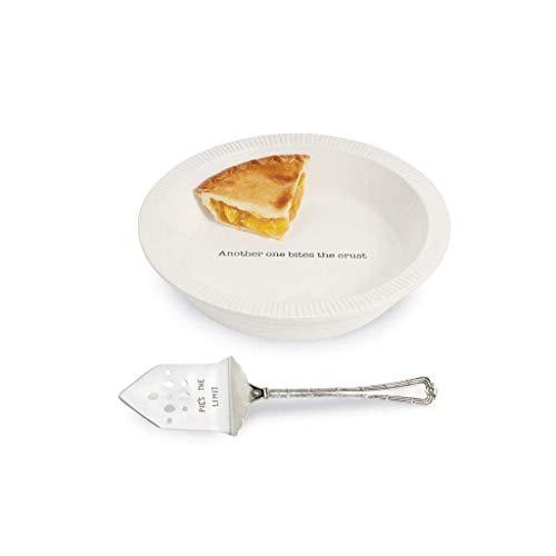Mud Pie Thanksgiving Circa Pie Plate with Server Set of 2