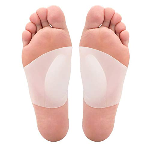 Arch Support Gel - Soft Gel Sleeves for Plantar Fasciitis,Flat Feet Soft Gel Sleeve Pain Relief for Men and Women.Shoe Insert Brace for Arches,Foot Pain, Flat Feet