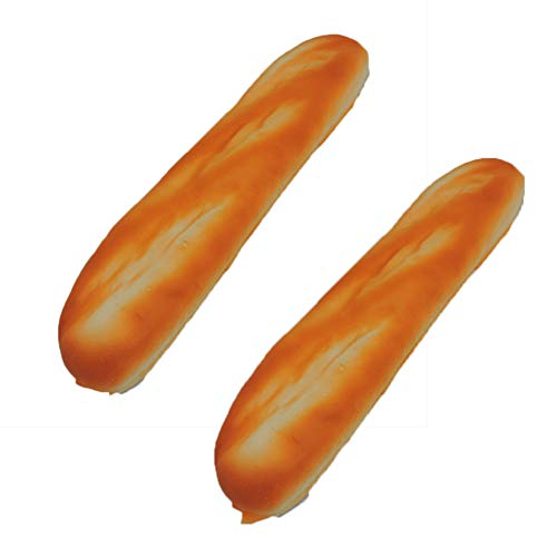 (Fake French Baguette Loaf Squeezable Foam Bread 2 PK)