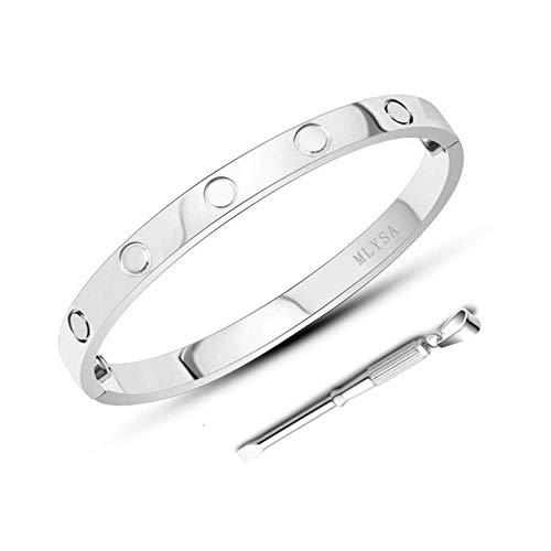 MLYSA Love Bracelet, Screw Bracelet, 18k Titanium Steel Bracelet, Buckle Bangle Bracelet with Screwdriver