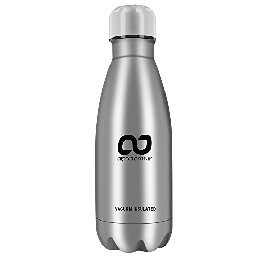 Alpha Armur Insulated Water Bottle Double Wall Vacuum Insulated Stainless Steel Bottle Water Bottles Flasks with Narrow Mouth stainless steel bottle stainless vacuum flask thermoses