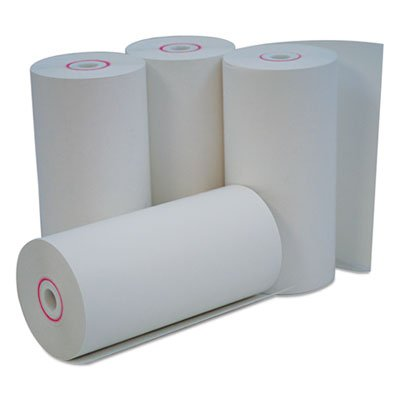 Universal - Single-Ply Thermal Paper Rolls, 4 3/8quot; X 127 Ft, White, 50/Carton