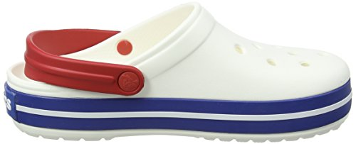 Jean Adulte Mixte Crocs blue Band Blanc Clog Sabots white g4z6Wqp