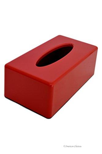 Red Acrylic Rectangular Kleenex Tissue Dispenser Box Cover Holder