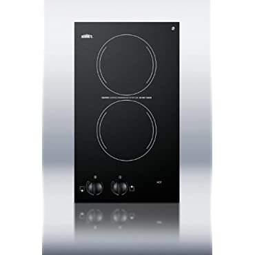Summit CR2220 Electric Cooktop, Black
