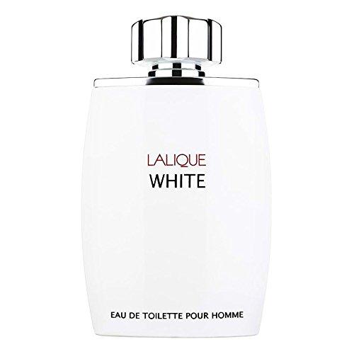 Lalique White for Men Gift Set - 4.2 oz EDT Spray + 3.3 oz Hair & Body Shampoo (Musk Tamarind Cologne)