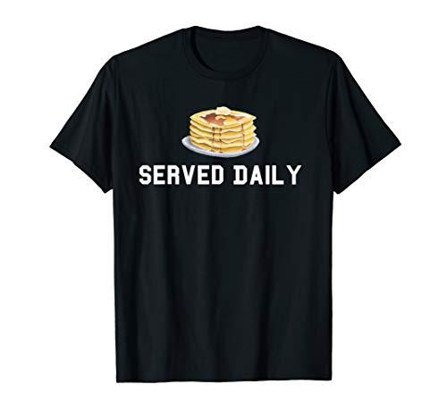 Pancakes Served Daily Offensive Lineman OL Football T-Shirt Black Old School Football T-shirt