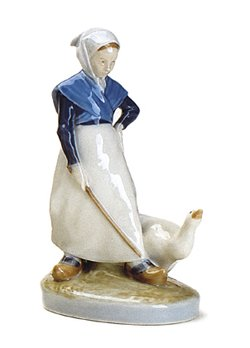 - Royal Copenhagen Figurine, Goose Girl