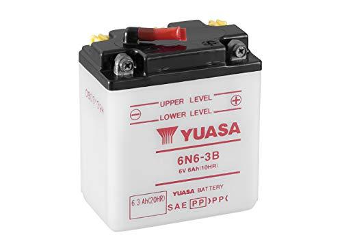 Yuasa batterij 6N6-3B open zonder zuur