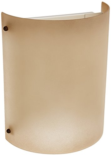 Forte Lighting 5124-02-00 Transitional 2 Light ADA Wall Sconce, Shaded Umber Glass with Desert Stone and Rustic Spice Ball Caps