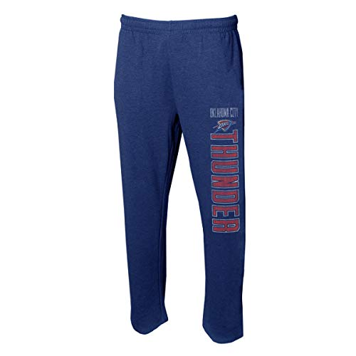 - Concepts Sport Men's NBA -Squeeze Play- Retro Sleepwear Pajama Pants-Heathered-Oklahoma City Thunder-Large