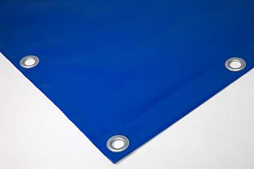 PVC Plane mit 20mm /Ösen OHNE SAUM 3m x 7m, Blau RAL5002 480g//m/² LKW Plane verschiedene Farben