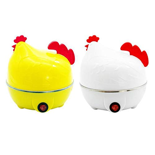 ZYJ Egg Cooker, Chicken Shaped Electric Egg Boiler Automatic Power Off Steamer Poacher Microwave Egg Cooker Cooking Tool Kitchen Gadget,White