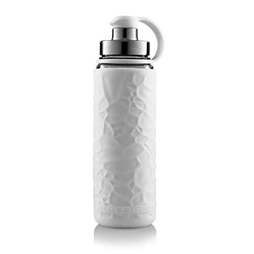 Anchor Hocking Life Durable Glass Water Bottle with Silicone Sleeve- 19.5 ounces, BPA-Free, Wide Mouth, Leak Proof Design