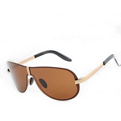 Color Hombres de sin Brown Frame de Lens de Gafas Sol Black Marco Silver Gafas Sakuldes Sol Sol clásicas Moda Brown de Gafas polarizadas Gafas Frame Lens01 waOxBBqXT