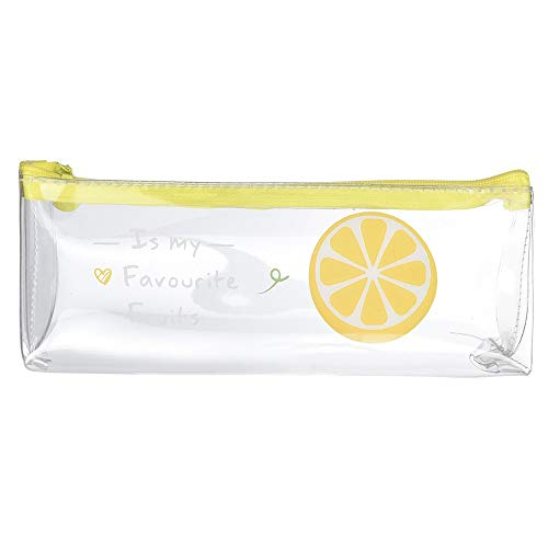 - Cinhent Bag Fashion Waterproof Transparent Fruit Pencil Pouch Pen Case Creative Student Stationery School Storage Bag, Simple + Fashion + Cute, Kids Girls Boys Small Gifts (D)