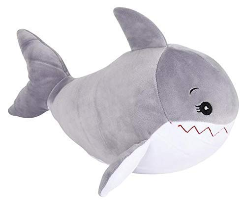 Great White Shark Squeeze Plush Stuffed Animal Personalized Airbrushed Name Plushie...Super Soft