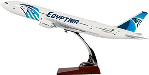 TANG DYNASTY 47CM Egypt エジプト航空 ボーイング B777 高品質樹脂飛行機プレーン模型 おもちゃ