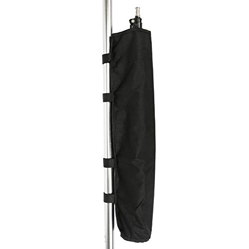 Fushida Walker Bag for Cane Secure Pouch with 4 Velcro Fixed Belt Accessory Bag for Cane, Walker, Crutch and Wheelchairs (Black, FYH118)