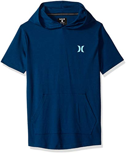 Hurley Boys' Little Short Sleeve Hooded Pullover, Blue Force icon, 4 ()