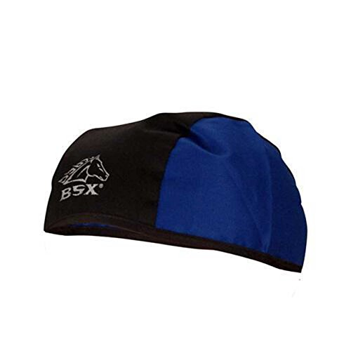 (Black Stallion BSX BC5B-BLU Black/Blue Cotton Beanie)