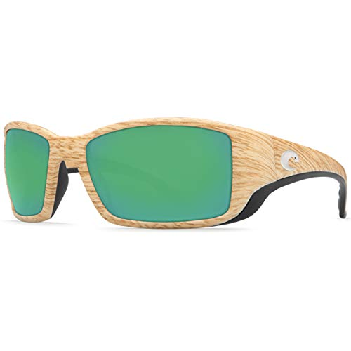 Costa Del Mar Blackfin Sunglass, Ashwood/Green Mirror 580Plastic