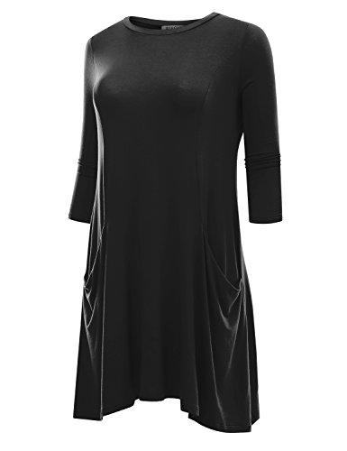 Buy navy dress and black leggings - 7
