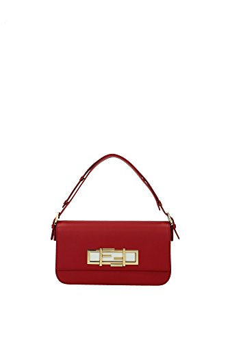 8BR7201E0F0V3D Fendi Hand Bags Women Leather Red