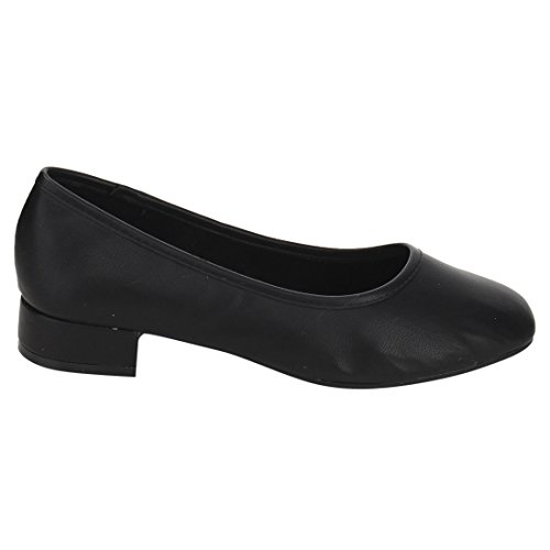 Picture of Women's Scheme Classic Slip On Chunky Heel Dress Pumps Shoes (8, Black)