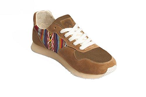 Éthiques Pour Femmes Traditionnels Chaussures Beige Sneakers Daim Chincherro À Péruviens Perús Et Artisanales Fabriquées Type Main Hommes La Joggers Motifs En g1q6AB