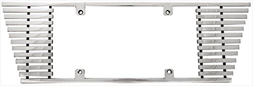 IPCW (CWL-842B) 8mm Polished Aluminum Billet Angled Edge License Plate ()