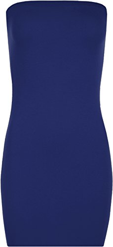 Tratto Bodycon Wearall Blu Womens Tubo Reale Catodico Breve Mini Abito Senza Maniche Top Cqq1gwXxt