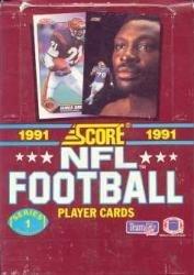 - 1991 Score Series 1 Football Cards Unopened Wax Box
