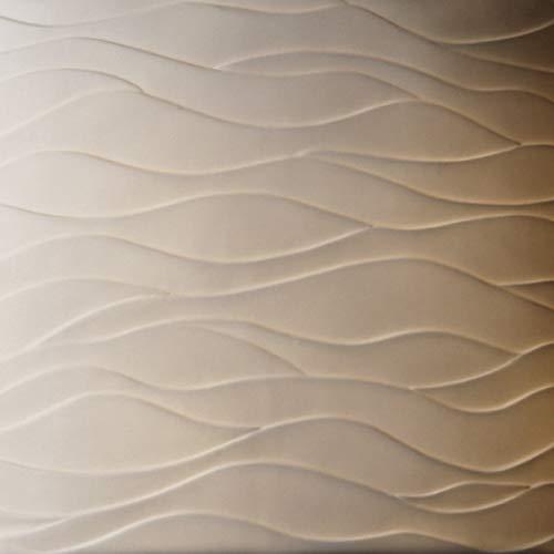 Brushed Nickel Justice Design Group Lighting POR-8427-30-WAVE-NCKL-LED1-700 Limoges-Tetra Ada 1-Light Wall Sconce-Oval Shade Waves-LED