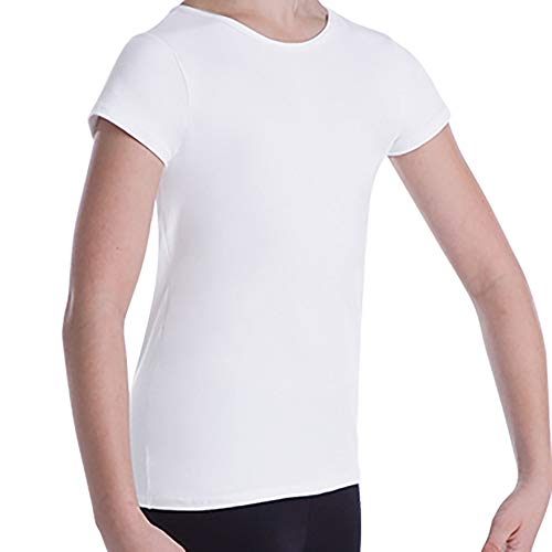 "Body Wrappers Pullover - Body Wrappers Boy's Ballet Dancewear Short Sleeve ""Snug Fit"" Pullover (White, 7-8) - B400"