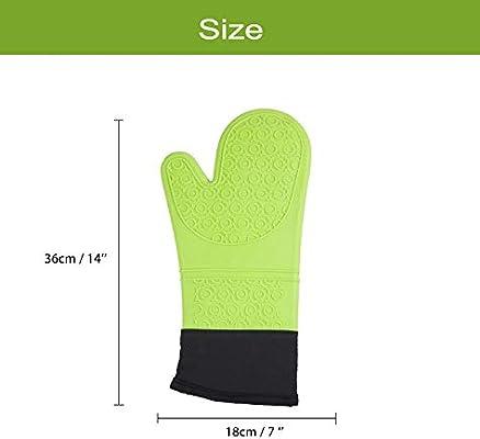 1 par de guantes de silicona para cocinar, guantes profesionales ...