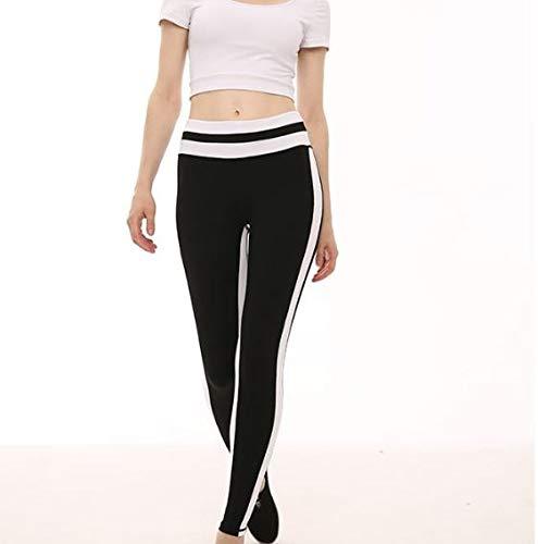 Nuovi Donna Pantaloni Colore Dimensioni Vita L Alto Da Allenamento Contrasto elastico Pesca Alta Sapphire Alla All'anca A Yoga Nero Blue Sportivi Eqqw1tS