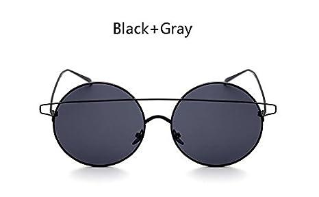 681f6d9bb BranXin(TM) Oversized Twin-Beam Round Sunglasses Women Vintage Brand  Designer Metal Frame