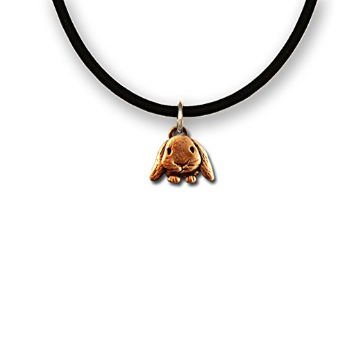 Lop Eared Bunny (Bronze Lop-Eared Rabbit Necklace by The Magic Zoo,18)