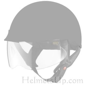 9d126a14 Amazon.com: 3-screw System Face Shield Visor Lens for Motorcycle Half Helmet  Clear: Everything Else