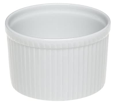 Pillivuyt Porcelain 11-Cup, 7-3/4-Inch Deep Classic Pleated Souffle Dish