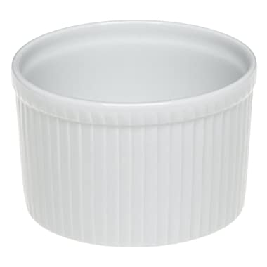 Pillivuyt Porcelain 8-Cup, 7-1/4-Inch Deep Classic Pleated Souffle Dish