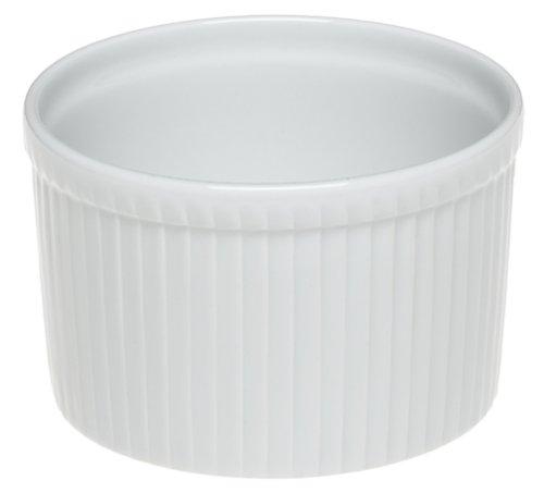 Pillivuyt Porcelain 4-Cup, 5-3/4-Inch Deep Classic Pleated Souffle Dish