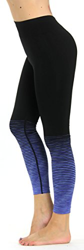 Prolific Health Fitness Power Flex Yoga Pants Leggings - All Colors - XS - XL (Meduim, Seamless Blue)
