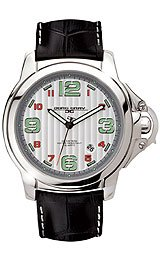 Jorg Gray Leather Silver Dial Men's watch #JG1850-26