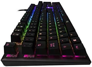 HyperX Alloy FPS RGB- Teclado Mecánico Gaming, Teclas Versión Español Latam, con interruptores Kaihl Silver Speed (Silencioso y lineal) y retroiluminación RGB - (HX-KB1SS2-LA) 5